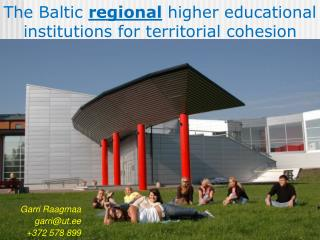 The Baltic  regional higher educational institutions for territorial cohesion
