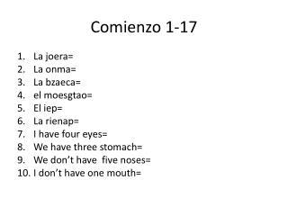 Comienzo  1-17