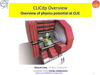 CLICdp Overview Overview of physics potential at CLIC