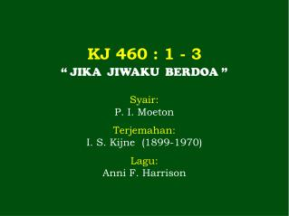 KJ 460 : 1 - 3