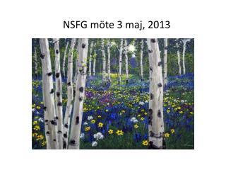 NSFG möte 3 maj, 2013