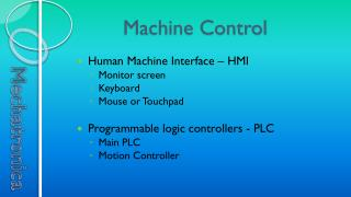 Machine Control