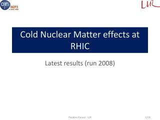 Cold  Nuclear Matter effects at  RHIC