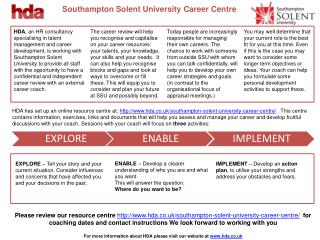 Southampton Solent University Career Centre