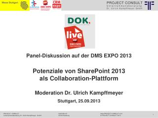 Potenziale von SharePoint 2013  als  Collaboration - Plattform