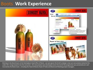 Boots   Work Experience