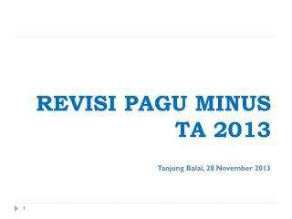 REVISI  PAGU MINUS  TA  2013