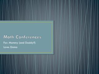 Math Conferences