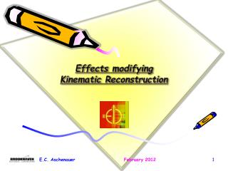 Effects modifying  Kinematic  R econstruction