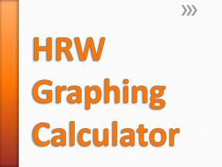 HRW Graphing Calculator
