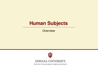 Human Subjects