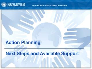 Action Planning Next Steps and Available Support
