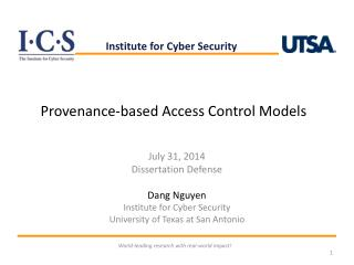 Provenance-based Access Control Models
