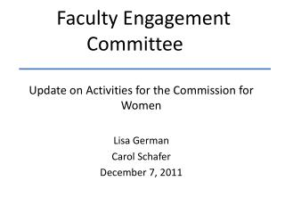 Faculty Engagement Committee