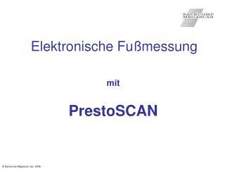Elektronische Fu messung