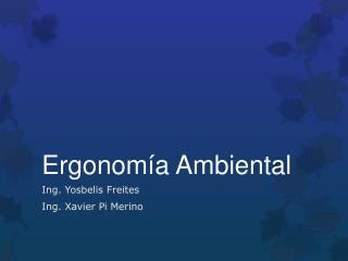 Ergonom�a Ambiental