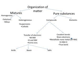 Organization of matter