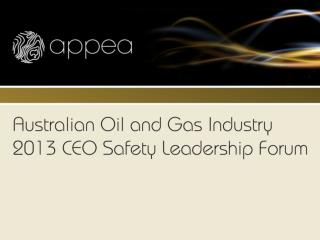 Australian Oil and Gas Safety Background