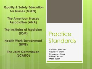 Practice Standards
