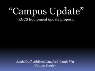 �Campus Update�
