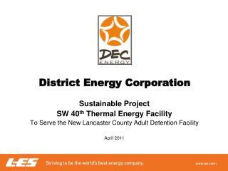 District Energy Corporation