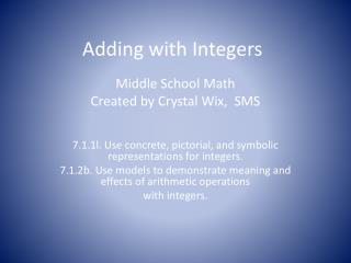 Adding with Integers