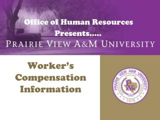 Office of Human Resources Presents ..