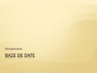 Baze  d E  date