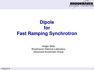 Dipole  for  Fast Ramping Synchrotron