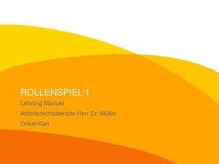 ROLLENSPIEL 1