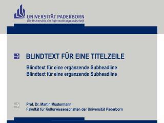 BLINDTEXT FÜR EINE TITELZEILE