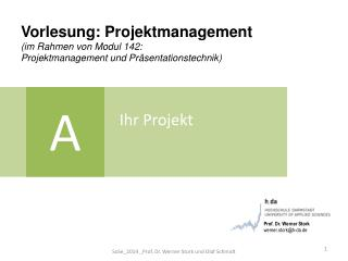Vorlesung: Projektmanagement