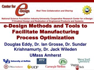 e-Design Methods and Tools to Facilitate Manufacturing Process Optimization