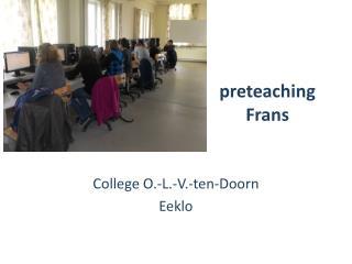 p reteaching  Frans