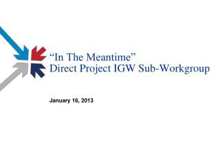 """""""In The Meantime"""" Direct Project IGW Sub-Workgroup"""