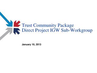 Trust Community Package Direct Project IGW Sub-Workgroup
