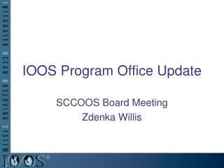 IOOS Program Office Update