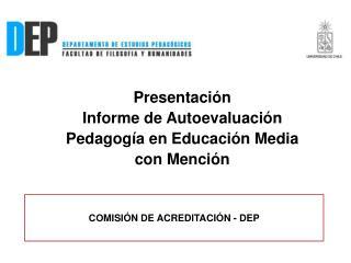 COMISIÓN DE ACREDITACIÓN - DEP