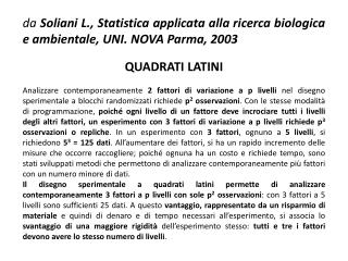 QUADRATI  LATINI