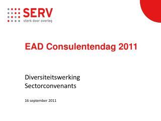 EAD  Consulentendag  2011