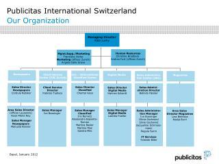 Publicitas International Switzerland Our Organization