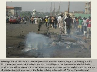 Easter car bombing in Nigeria