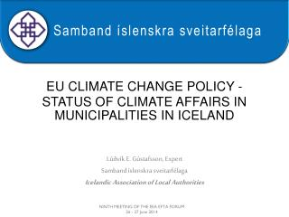 eu climate change policy  -  STATUS OF  climate  AFFAIRS IN  municipalities in  iceland