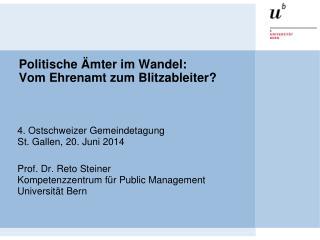 Politische Ämter im Wandel:  Vom Ehrenamt zum Blitzableiter?