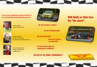 "DM-Rally  er ikke kun for ""de store"""
