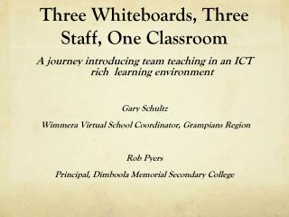Three Whiteboards, Three Staff, One Classroom