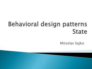 Behavioral design patterns State