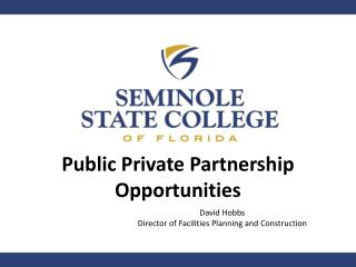 Public Private Partnership Opportunities