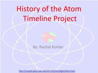 History of the Atom  Timeline Project