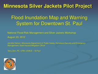 Minnesota Silver Jackets Pilot Project